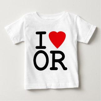 I Love Heart Oregon Baby T-Shirt