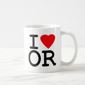 I Love Heart Oregon Coffee Mug