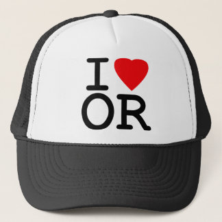 I Love Heart Oregon Trucker Hat