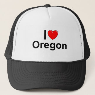 I Love (Heart) Oregon Trucker Hat