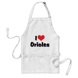 I Love Heart Orioles - Bird Lover Adult Apron