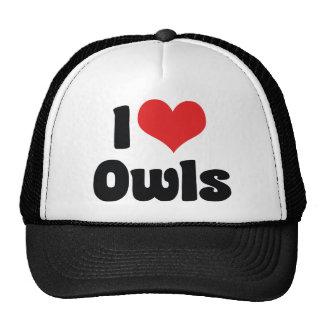 I Love Heart Owls - Owl Lover Trucker Hat