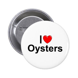 I Love (Heart) Oysters 2 Inch Round Button