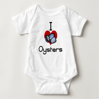 I love-heart oysters baby bodysuit