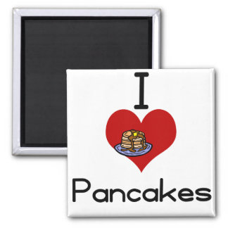 I love-heart pancakes 2 inch square magnet