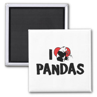 I Love Heart Pandas - Panda Lover Magnet
