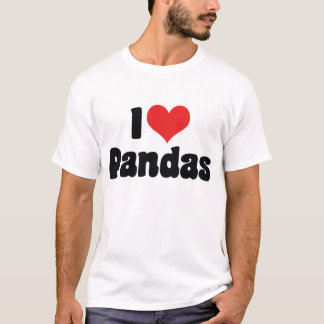 I Love Heart Pandas - Panda Lover T-Shirt