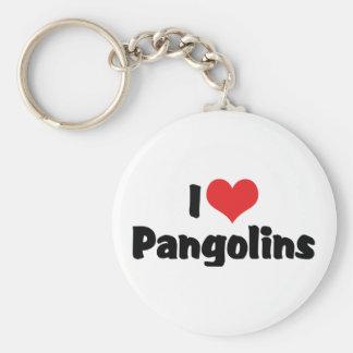 I Love Heart Pangolins - Pangolin Lover Keychain