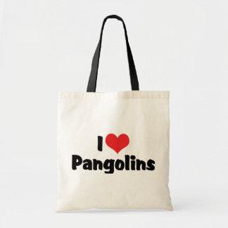 I Love Heart Pangolins - Pangolin Lover Tote Bag
