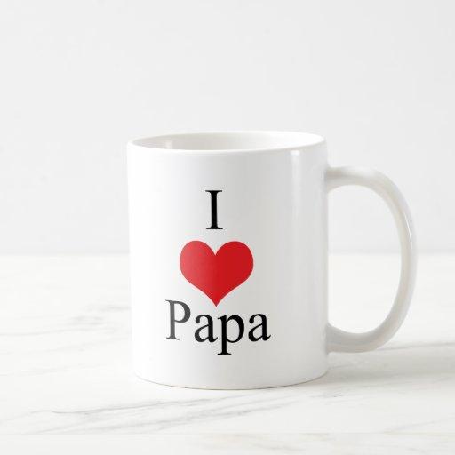 I Love (Heart) Papa Coffee Mug