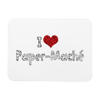 I Love Heart Paper-Mache - Papermache Lovers Magnet