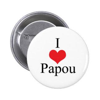 I Love Heart Papou Pins
