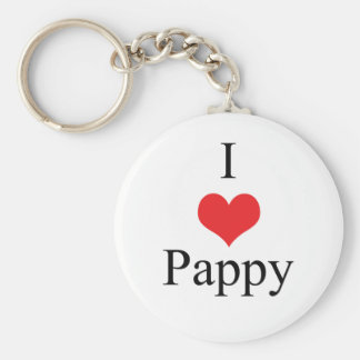 I Love (Heart) Pappy Keychain