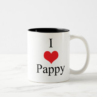 I Love (Heart) Pappy Two-Tone Coffee Mug