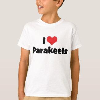 I Love Heart Parakeets - Parrot Bird Lover T-Shirt
