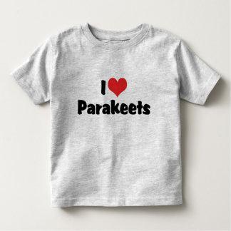 I Love Heart Parakeets - Parrot Bird Lover Toddler T-shirt