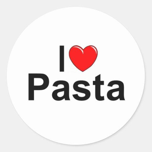 I Love (Heart) Pasta Classic Round Sticker