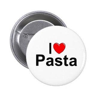 I Love (Heart) Pasta Pinback Button