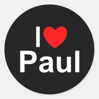 I Love (Heart) Paul Classic Round Sticker