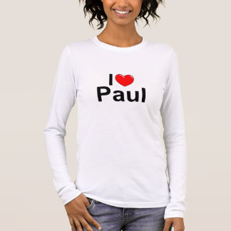 I Love (Heart) Paul Long Sleeve T-Shirt