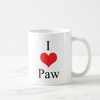 I Love (Heart) Paw Coffee Mug