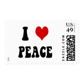 I Love (heart) Peace Stamp
