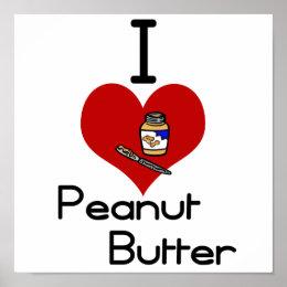 I love-heart peanut butter poster