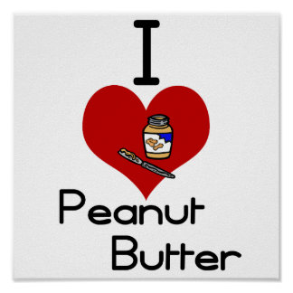 I love-heart peanut butter poster