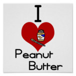 I love-heart peanut butter posters