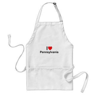 I Love (Heart ) Pennsylvania Adult Apron