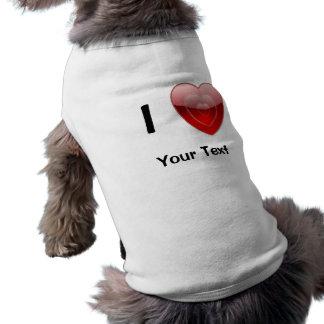 I Love Heart Pet Clothing