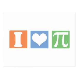 I Love (Heart) Pi Postcard
