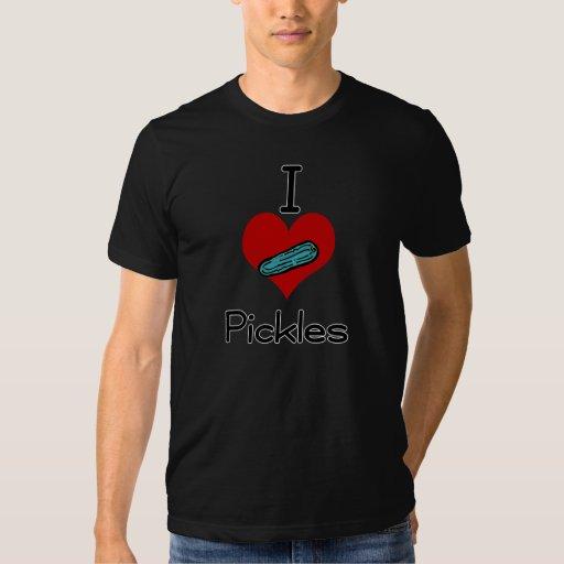 I love-heart pickles tshirt