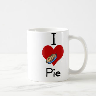 I love-heart pie classic white coffee mug