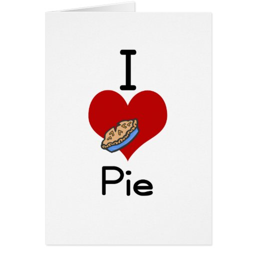 I love-heart pie greeting card