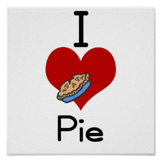 I love-heart pie posters