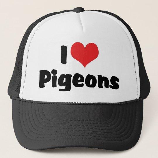 I Love Heart Pigeons - Bird Lover Trucker Hat