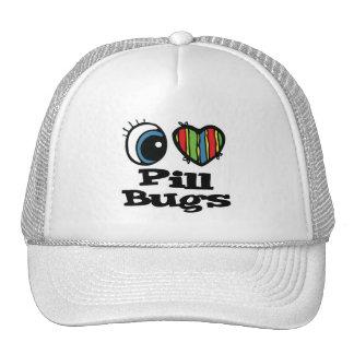 I Love (Heart) Pill Bugs Trucker Hat