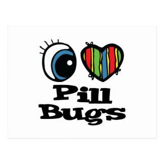 I Love (Heart) Pill Bugs Postcard