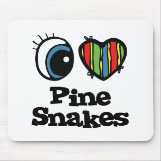 I Love (Heart) Pine Snakes Mouse Pad