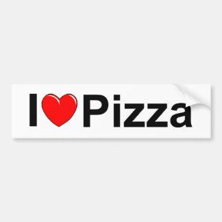 I Love (Heart) Pizza Bumper Sticker