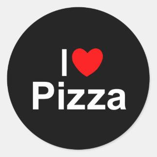 I Love (Heart) Pizza Classic Round Sticker