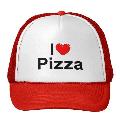 I Love (Heart) Pizza Mesh Hat