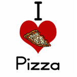 I love-heart pizza photo cut out