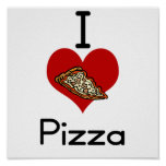 I love-heart pizza posters