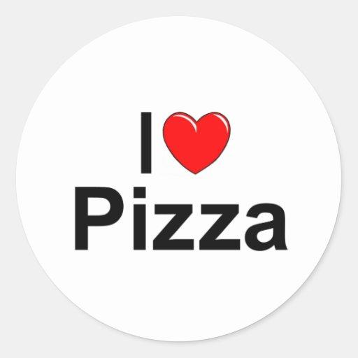 I Love (Heart) Pizza Stickers