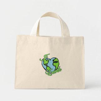 i love (heart) planet earth bag