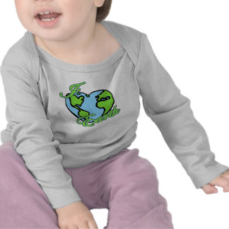 i love (heart) planet earth t-shirts