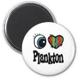 I Love (Heart) Plankton Refrigerator Magnet