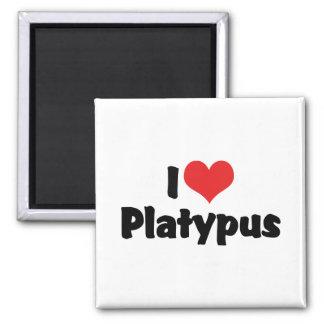I Love Heart Platypus Magnet